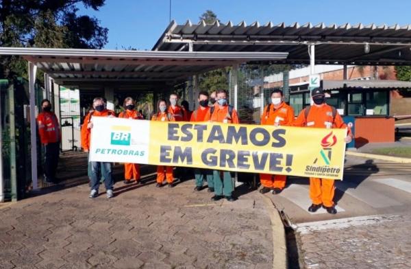 Trancaço e silêncio da Petrobrás no 3º dia de greve na SIX